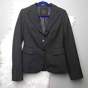 The Limited Charcoal Gray Button Suit Blazer
